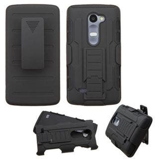Insten Hard PC/ Silicone Dual Layer Hybrid Phone Case Cover with Holster For LG Leon/ Tribute 2|https://ak1.ostkcdn.com/images/products/10432215/P17530113.jpg?impolicy=medium