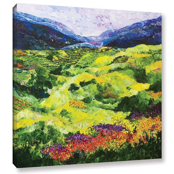 ArtWall Allan Friedlander 'Soft Grass' Gallery-wrapped Canvas