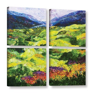 ArtWall Allan Friedlander 'Soft Grass' 4 Piece Gallery-wrapped Canvas Square Set