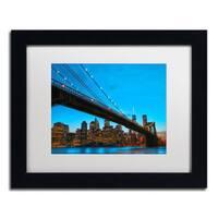 CATeyes 'Brooklyn Bridge 1' White Matte, Black Framed Wall Art