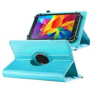 Insten Swivel Leather Fabric Suede Tablet Case Cover with Stand For 7-inch Tablet/ Samsung Galaxy Tab/ Tab 3 LTE/ Tab 4 LTE|https://ak1.ostkcdn.com/images/products/10432322/P17530118.jpg?impolicy=medium