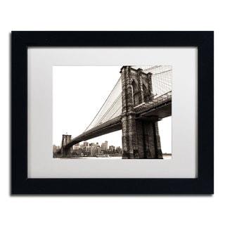 CATeyes 'Brooklyn Bridge 2' White Matte, Black Framed Wall Art