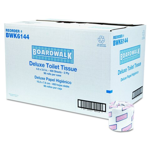 Boardwalk Two-Ply White Toilet Tissue (Pack of 96)