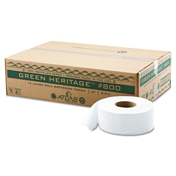Atlas Paper Mills Green Heritage Jumbo Junior Roll 2 Ply Toilet Tissue  (Pack Of