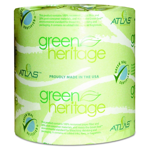 Atlas Paper Mills Green Heritage 1 Ply Bathroom Tissue