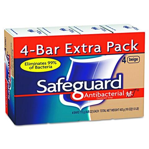 Safeguard Antibacterial Beige 4oz Bar Bath Soap (Pack of 48)