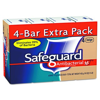 Safeguard Antibacterial Beige 4oz Bar Bath Soap (Pack of 48)