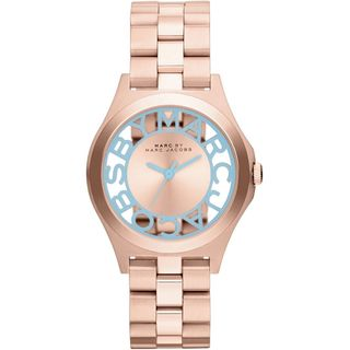 Marc Jacobs Women's MBM3296 Henry Skeleton Rose Gold Watch