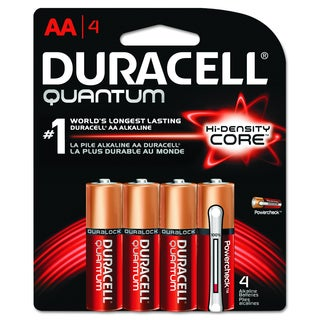Duracell Quantum AA Alkaline Batteries with Duralock Power Preserve Technology (Pack of 4)
