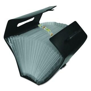 C-Line 21 Pocket Specialty Black Expanding File