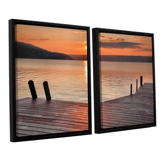 ArtWall Steve Ainsworth 'Another Kekua Sunrise' 2 Piece Floater Framed Canvas Set
