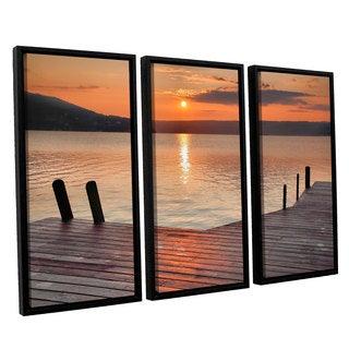ArtWall Steve Ainsworth 'Another Kekua Sunrise' 3 Piece Floater Framed Canvas Set