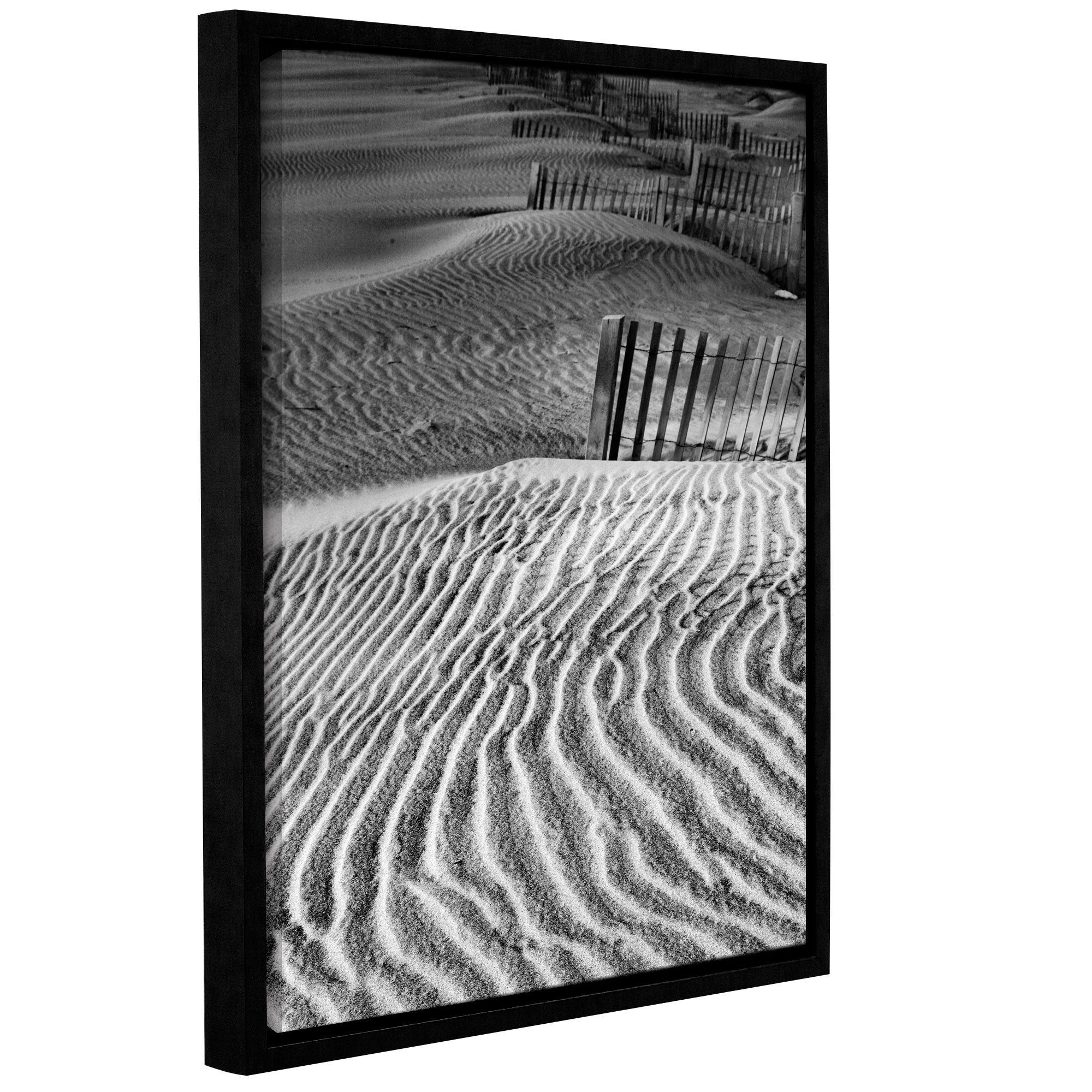 Artwall Steve Ainsworth Dune Patterns Gallery Wrapped Floater Framed Canvas Overstock 10432532
