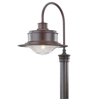Troy Lighting South Street 1-light Rust Post Downlight