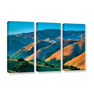 ArtWall Steve Ainsworth 'Golden Hills' 3 Piece Gallery-wrapped Canvas Set