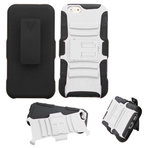 Insten Hard PC/ Silicone Dual Layer Hybrid Phone Case Cover with Holster For Apple iPhone 6