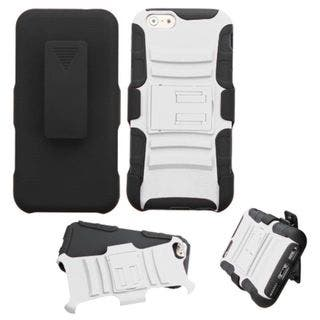 Insten Hard PC/ Silicone Dual Layer Hybrid Phone Case Cover with Holster For Apple iPhone 6|https://ak1.ostkcdn.com/images/products/10432569/P17530325.jpg?impolicy=medium