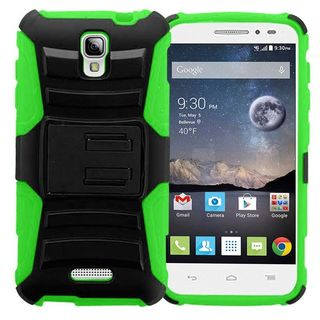Insten Hard PC/ Silicone Dual Layer Hybrid Phone Case Cover with Holster For Alcatel One Touch Pop Astro