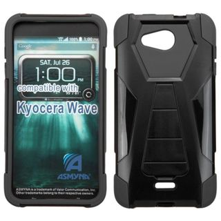 Insten Hard PC/ Silicone Dual Layer Hybrid Phone Case Cover with Stand For Kyocera Hydro Wave
