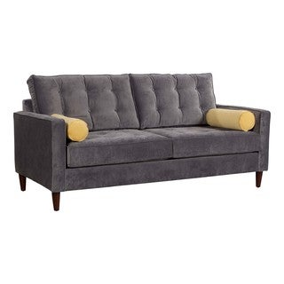Zuo Savannah Sofa Slate/Golden with Rolled Cushions