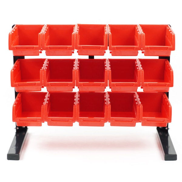 Stalwart Bench Top Parts Rack - 15 pieces