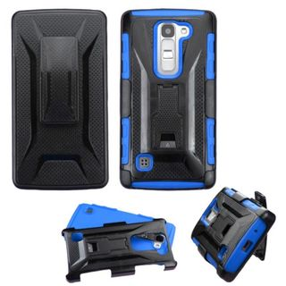 Insten Hard PC/ Silicone Dual Layer Hybrid Phone Case Cover with Holster For LG Escape 2/ Logos