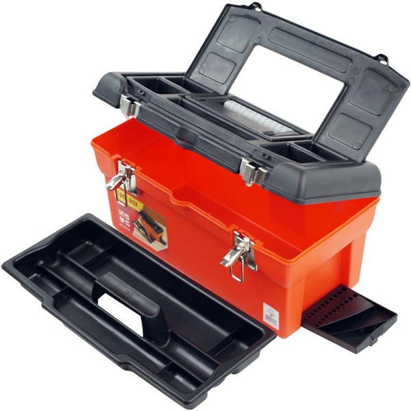 Stalwart Utility Tool Box - 7 Compartments & Tray