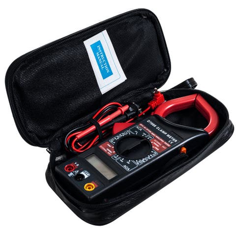 Wire Clamp Digital Multimeter with LCD Display and Needle Probes- Amp, Ohm and Voltage Tester by Stalwart