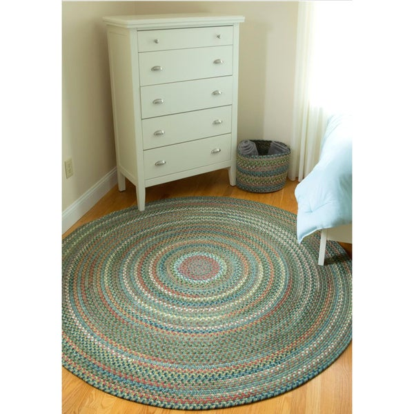 Shop Charisma Indoor Outdoor 8 Foot Round Braided Rug By
