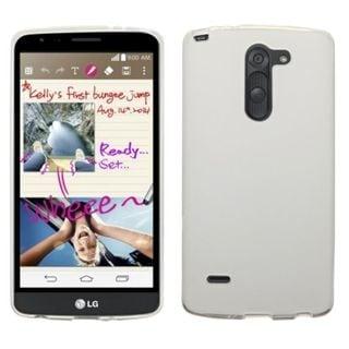 Insten White Hard Snap-on Rubberized Matte Phone Case Cover For LG G3 Stylus