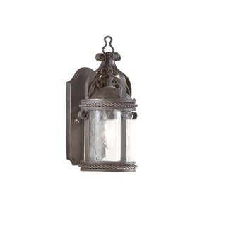 Troy Lighting Pamplona 1-light Small Wall Lantern, Clear Seeded