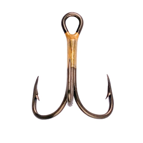 Eagle Claw Lazer 2x Treble Reg Shank Curved Point Hook Bronze Size 1 (Per 5)