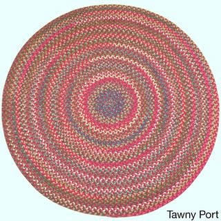 Charisma Indoor/Outdoor 6-foot Round Braided Rug by Rhody Rug (Tawny Port - 6 Round)