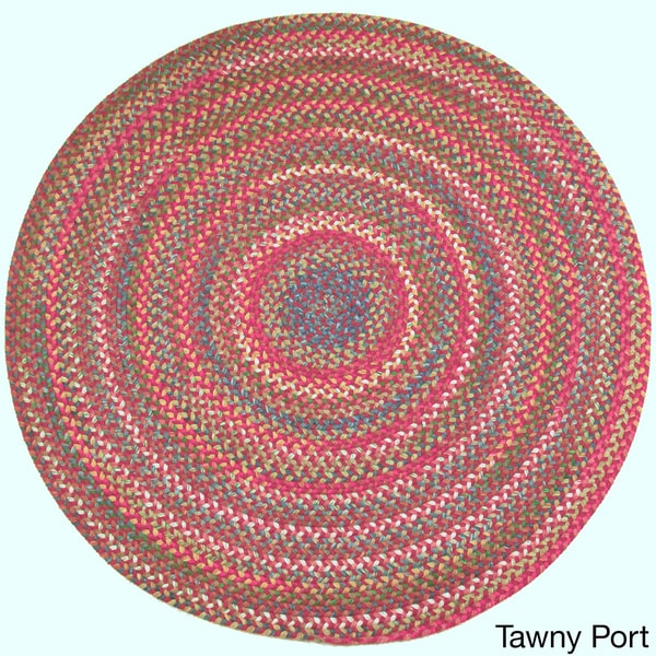 Delightful Charisma Indoor/Outdoor 6 Foot Round Braided Rug By Rhody Rug   Free  Shipping Today   Overstock.com   17530503