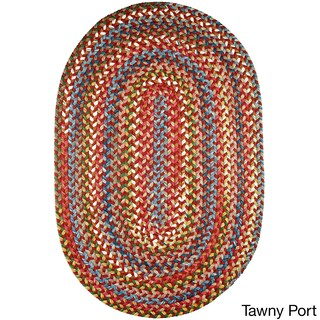 Charisma Indoor/Outdoor Oval Braided Rug by Rhody Rug (8' x 11') - 8' x 11'