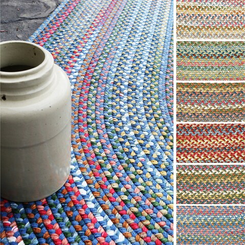 Charisma Indoor/Outdoor Oval Braided Rug by Rhody Rug (8' x 11') - 8' x 11'