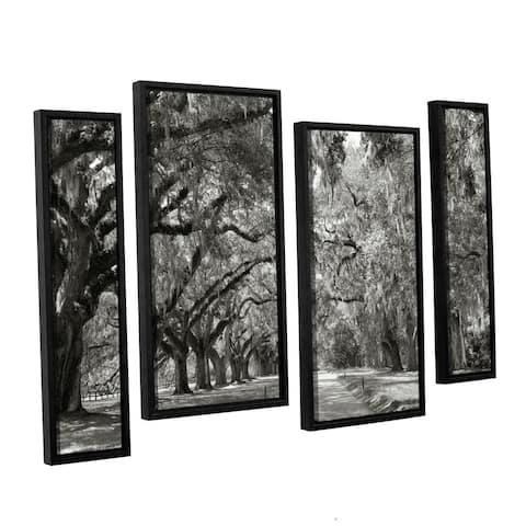 ArtWall Steve Ainsworth 'Live Oak Avenue' 4 Piece Floater Framed Canvas Staggered Set