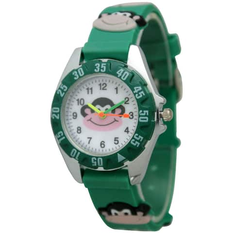 Olivia Pratt Kids' Monkey Watch - Green