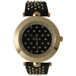 Olivia Pratt Women's Leather Studded Watch