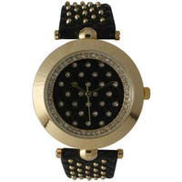 Olivia Pratt Women's Leather Studded Watch