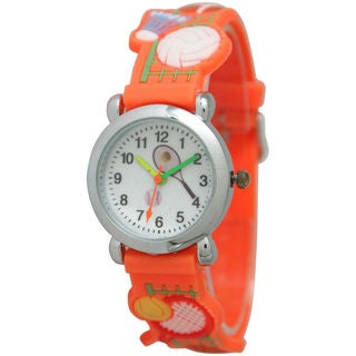 Olivia Pratt Kids' All Sports Silvertone Bezel Watch