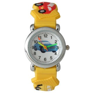 Olivia Pratt Kid's Silvertone Bezel Racecar Watch