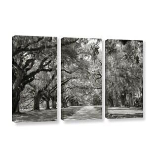 ArtWall Steve Ainsworth 'Live Oak Avenue' 3 Piece Gallery-wrapped Canvas Set - Black (2 options available)