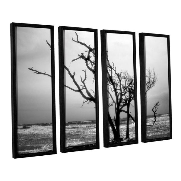 ArtWall Steve Ainsworth 'Hanging On' 4 Piece Floater Framed Canvas Set - Multi thumbnail