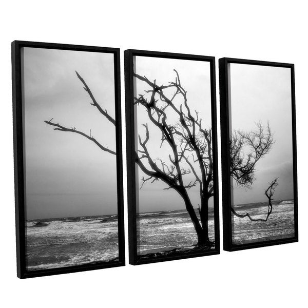 ArtWall Steve Ainsworth 'Hanging On' 3 Piece Floater Framed Canvas Set - Multi thumbnail