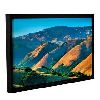 ArtWall Steve Ainsworth 'Golden Hills' Gallery-wrapped Floater-framed Canvas