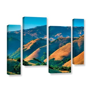 ArtWall Steve Ainsworth 'Golden Hills' 4 Piece Gallery-wrapped Canvas Staggered Set
