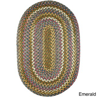 Charisma Indoor/Outdoor Oval Braided Rug by Rhody Rug (5' x 8') (More options available)