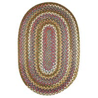 Charisma Indoor/Outdoor Oval Braided Rug by Rhody Rug (7' x 9') - 7' x 9'