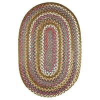 Rhody Rug Charisma Oval Braided Nylon Indoor/Outdoor Rug (7' x 9')